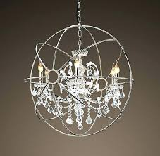 chrome orb chandelier astounding throughout crystal polished best globe ideas on glass