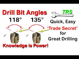 Drill Bit Angles Quick Easy Trade Secret For Great