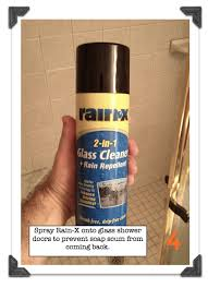 how to clean soap s off shower doors use rainx to prevent more soap s