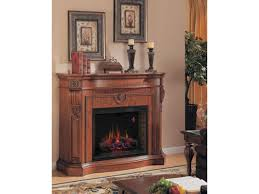 florence electric fireplace by classic flame pecan cherry finish