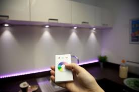 kitchen down lighting. Control Your Coloured Lighting With Sensio\u0027s RGB Remote Kitchen Down A