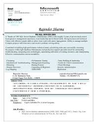 Db2 Database Administrator Resume Senior Server Sample Resume