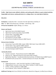 High School Resume Examples For College Admission Menu And Resume