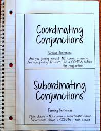 Anchor Chart Notebook Conjunction Anchor Chart Crafting Connections