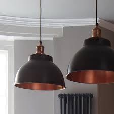 industville brooklyn vintage metal dome pendant light dark pewter copper 13 inch view all industville