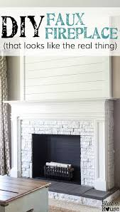 fake fireplace mantel diy faux fireplace updated