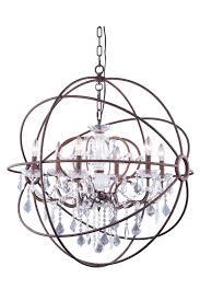 urban classic 6 light 32 rustic intent bronze iron medium orb crystal chandelier