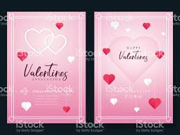 Valentines Day Invitation Valentines Day Party Flyer Design Stock ...