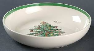 Three Spode Christmas Tree Coupe Cereal Bowls 6 14Spode Christmas Tree Cereal Bowls