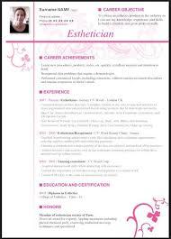 Esthetician Resume Template Esthetician Resume With No Experience