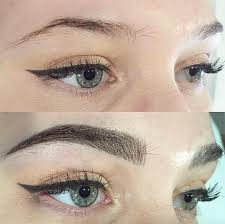 microblading 3d eyebrow embroidery before and after