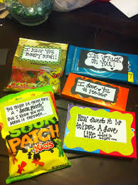 lo candy grams sayings to go with diffe cans for a cute pick me up or gift to a friend