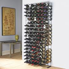 Wine Bottle Storage Angle 144 Bottle Black Tie Grid Wine Enthusiast