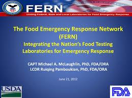 Fsis Organizational Chart The Food Emergency Response Network Fern Integrating The