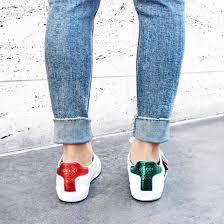 gucci shoes for men bee. shoes: gucci ace sneakers low top white denim jeans blue shoes for men bee h