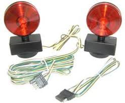 lighting and wiring options for flat towing a jeep wrangler behind magnetic towing light kit 20 ft long cord