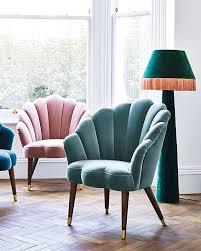 duck egg blue velvet armchair