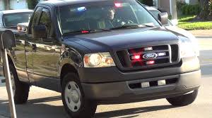 largo police unmarked pickup truck red and blue led lights all over you