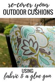no sew project how to recover your outdoor cushions using fabric and a glue the v spot