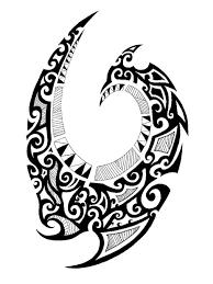 эскиз тату фото остроконечный орнамент маори татуировки и эскизы