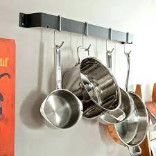 simple wall mounted pot rack racks grid diy stage home depot