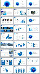 microsoft powerpoint slideshow templates 27 blue creative infographics annual powerpoint template