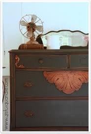 q is for quandie   from a vintage vantage point. Dresser painted with Miss  Mustard