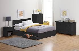 alcove Full Platform Bed with Storage Drawers - Black Fingerhut