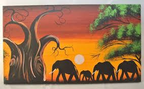 african elephant oil canvas