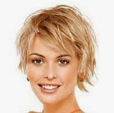 Short Hairstyles For Fine Hair And Round Face This Short Funky Do