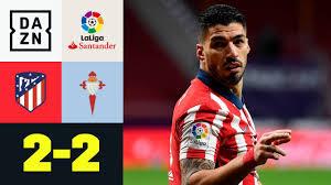 Vigo schockt Doppelpacker Suarez und Atletico spät: Atletico Madrid - Celta  Vigo 2:2 | LaLiga