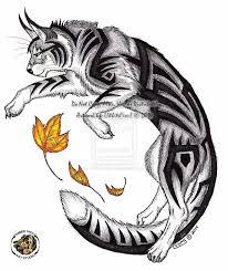 Gato Tribal рысь татуировки рысь E рисунки