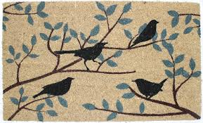 J and M Home Fashions Birds Vinyl Back Coco Doormat, 18' x 30 ...
