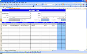 Mileage Report Templates Excel Mileage Log Templates Excel Xlts Nurul Amal