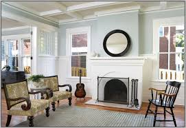 colors to paint living room with brick fireplace