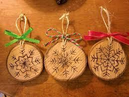 Wood Burned Snowflake Christmas Ornaments by RuffledandRustic ...