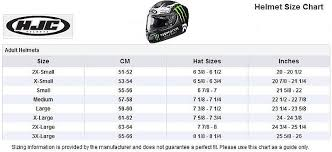 Hjc Helmet Size Chart Hjc Motorcycle Helmet Size Chart Disrespect1st Com