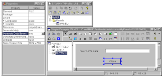 example constructing a panel the gui builder gui builder windows setting properties to generate the online help skeleton and the java bean