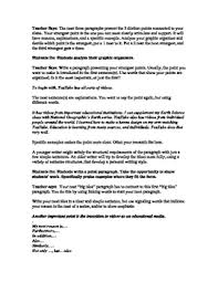 7th Grade Essay Writing How To Write In Middle School The 7th Grade Argumentative Essay