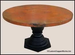 round table pedestal base round copper top dining table inch round wood pedestal table base large