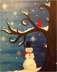 Christmas Paintings On Canvas Easy Ideas In Home 26