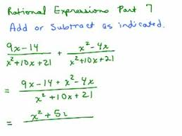 adding subtracting rational expressions like adding subtracting rational expressions videos for high school
