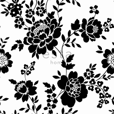 Bolcom Behang Bloemen Zwart En Wit 115722 Van Estahomenl