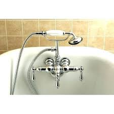 clawfoot tub faucet with shower diverter tub shower faucets brass vintage faucet reviews add a spout clawfoot tub faucet with shower