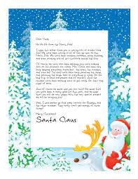 Free Letter From Santa Word Template Easy Free Letters From Santa Customize Your Text And
