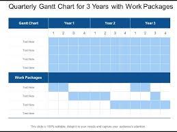 Quarterly Gantt Chart Quarterly Gantt Chart For 3 Years With Work Packages