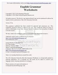 English Grammar Worksheets Free PDF ebook Download from Larisa ...