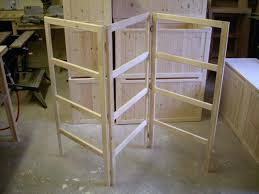 3 fold wooden handmade pine clothes horse dryer old fashioned drying rack racks for