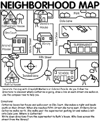4902971cf7abda7115367491696bf44b nice neighborhood map and directions from crayola! social on free social skills worksheets