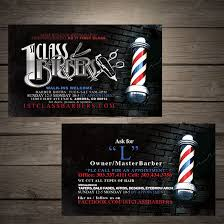barbershop business cards 1st class barbers denver print company